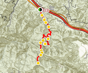 East Canyon Trail to Jones Junction Map