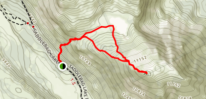 Tioga Peak Map