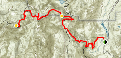Mount Margaret to Mount Saint Helens Map