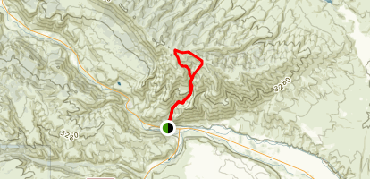 Mount Clemen via Waterworks Canyon Trail Map