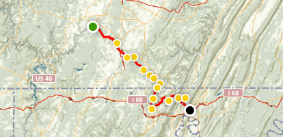 Great Allegheny Passage: Rockwood to Cumberland Map