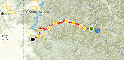 Trail of the Coeur d' Alenes Map