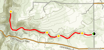 Klickitat Rail Trail Map