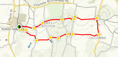 Sutton Valence Walking Tour Map