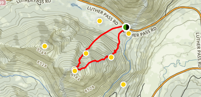Waterhouse Peak Ski Tour Map