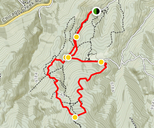 Barbour Forks Trail Map