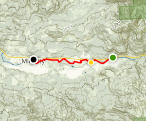 North Santiam River: Packsaddle Park to Mill City Map