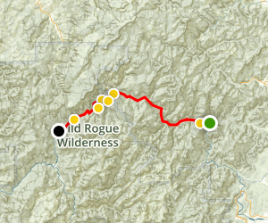Rogue River Wild and Scenic Rafting Trip Map