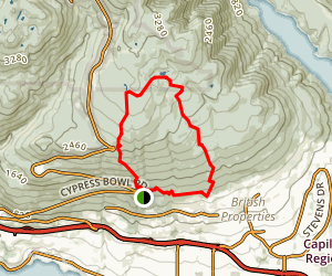 Lower Hollyburn Loop Map