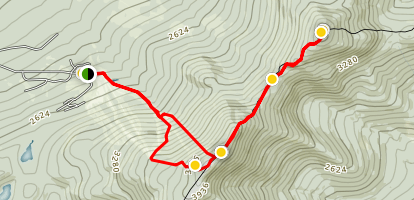 Saddleback Mountain and The Horn via Appalachian Trail Map