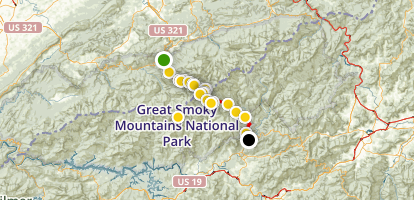 Newfound Gap Road Drive Map