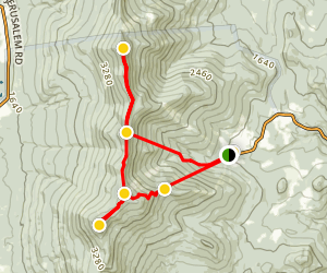 Mount Ellen and Mount Abraham Map