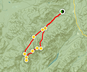 Mount Haystack Loop Trail Map