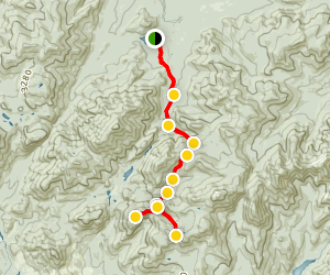 Mount Redfield and Cliff Mountain Trail Map