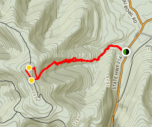 Hunter Mountain via Becker Hollow Trail Map