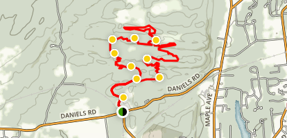 Black Diamonds Loop Trail Map