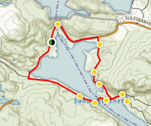 Setesdalsheiane Nature Reserve Loop Trail Map