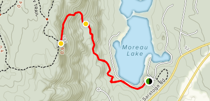 Moreau Lake Overlooks Trail Map
