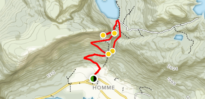 Hommefjellet Mountain Scenic Trail Map