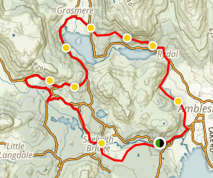 The Vale of Rydal Loop Map