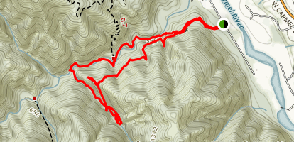 Redwood Canyon Trail Map