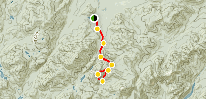 Mount Colden via the East Slide Map