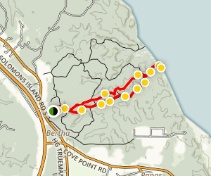 Calvert Cliffs Red Trail and Service Road Loop Map