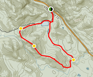 Round Pond Peaks Trail Map