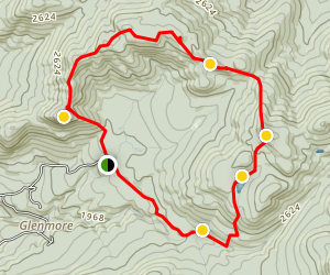 Big Crow and Nun-Da-Ga-O Ridge Loop Trail Map