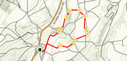 Elham Loop Map