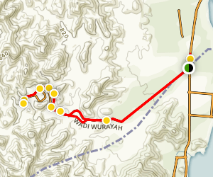 Wadi Wurayah Trail Map