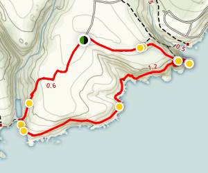 St Catherine's Point Loop Map