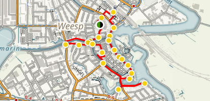 Weesp Walking Tour Map
