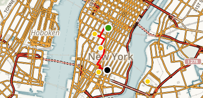Coffee Lovers' Tour or Lower Manhattan Map