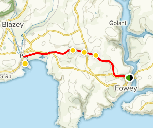 Fowey to Par Docks [PRIVATE PROPERTY] Map