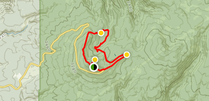 Larch Mountain Crater Loop (CLOSED) Map