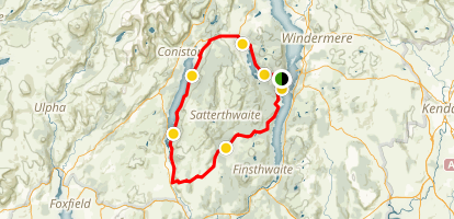 Coniston Lake Loop Map