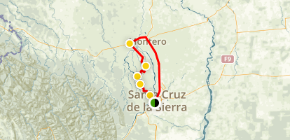 Santa Cruz, Portachuelo Loop Trail Map