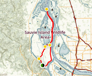 Reeder Road Loop - Sauvie Island Map