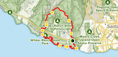 Pacific to Redwoods Loop Map