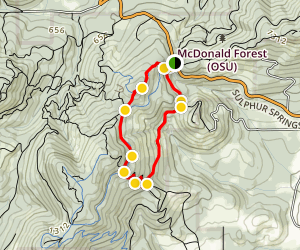 Lewisberg Saddle Upper Horse Trail Loop Map
