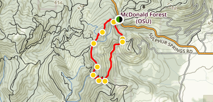 Lewisberg Saddle Upper Horse Trail Loop - MacDunn Forest Map