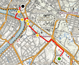 Rome Walking Tour: Baths, Temples, and the Circus Maximus Map