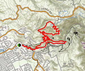 North Rim Trail to Boccardo Trail Map