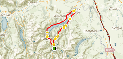 Glenridding - Ulswater Lake Loop Map