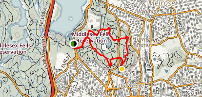East Middlesex Fells Reservation Loop Trail Map