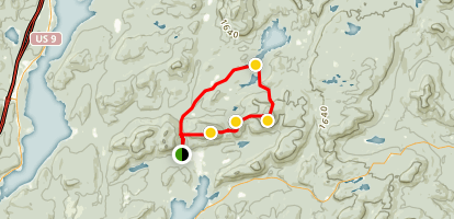 Stevens, Little Stevens and No. 8 Mountain Loop Trail Map