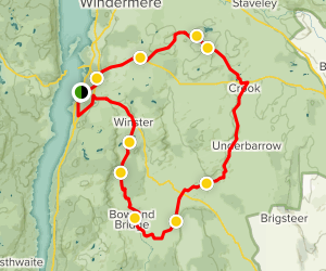 Bowness on Windermere Loop Map