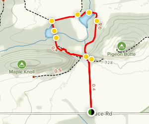 Beaver and Cattail Ponds Trail Map