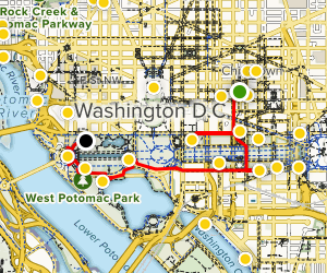 D.C. Walk Through U.S. History Map